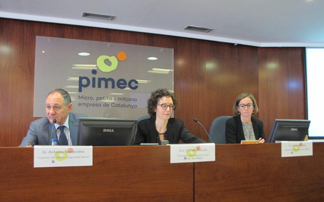 Claus de la sessió Registre de Jornada de PIMEC