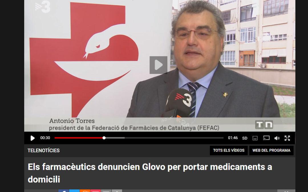 Els farmacèutics denuncien Glovo per portar medicaments a domicili