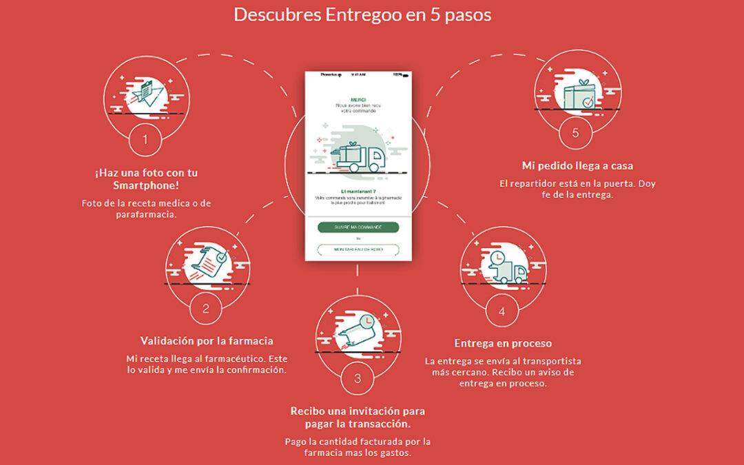 Dubtes sobre la legalitat d'Entregoo, una altra aplicació d'enviament de medicaments.