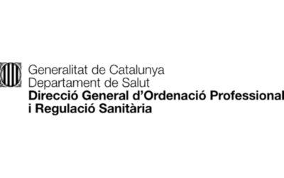 Comunicat de la Direcció General d'Ordenació i Regulació Sanitària