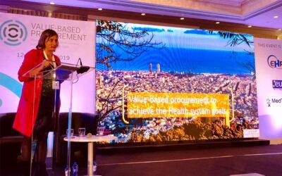 La consellera Vergés destaca el model sanitari català com a referent a Europa