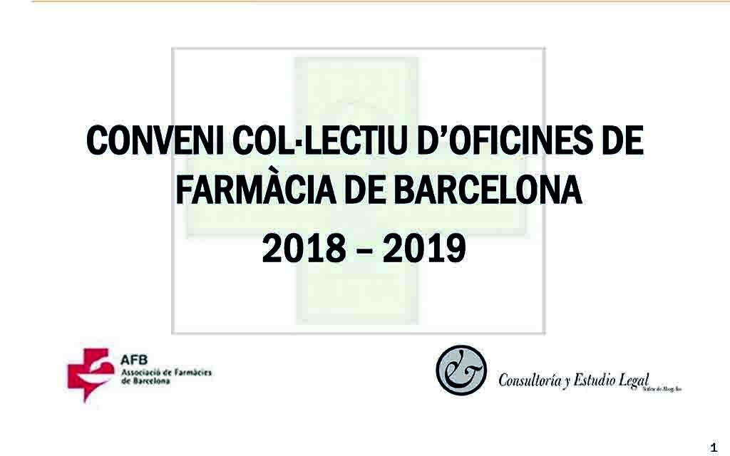 Ja pots descarregar la presentació del conveni col·lectiu d'oficines de farmàcia de Barcelona