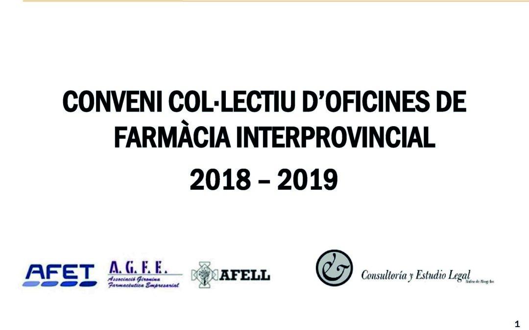 Ja pots descarregar la presentació del conveni col·lectiu d'oficines de farmàcia interprovincial