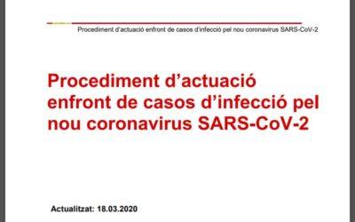 Informació d'interès de l'actualització del procediment d'actuació del Departament de Salut
