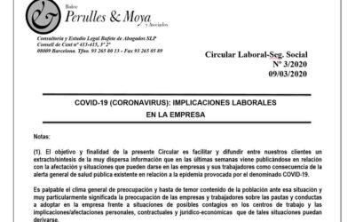 Coronavirus: Implicacions laborals en l'empresa