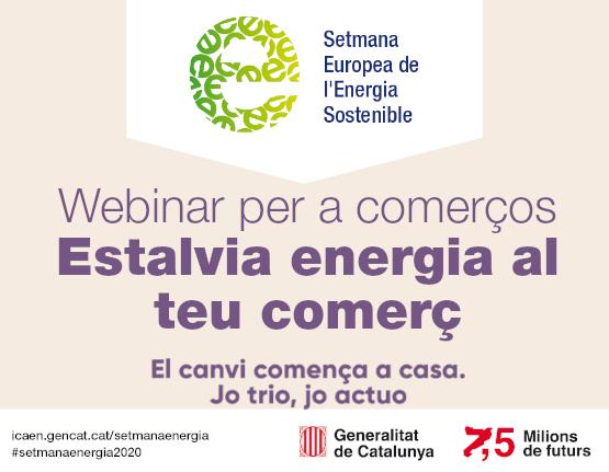"""Webinar """"Estalvia energia al teu comerç"""" 29 i 30 de juny de 2020 de 15.00 a 16.00"""