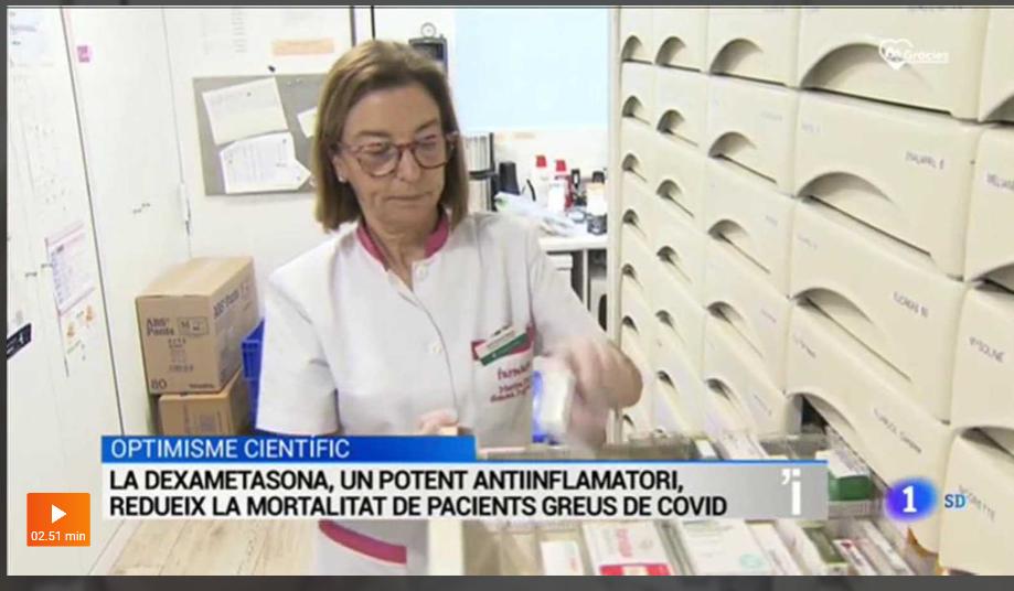 Marina oriol, membre de junta de la FEFAC, recorda que la dexometasona no és un tractament preventiu