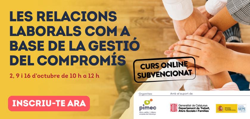 PIMEC Formació: curs online dies 2, 9 i 16 d'octubre