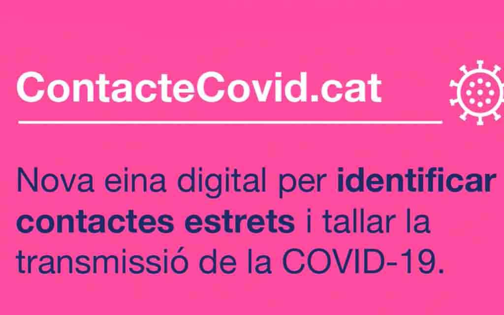 ContacteCovid.cat, una nova eina digital per a la identificació i seguiment de contactes estrets