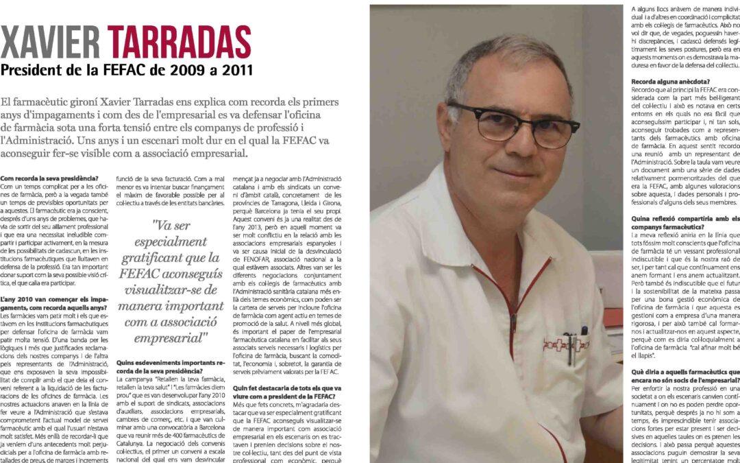 Xavier Tarradas, president de FEFAC de 2009 a 2011