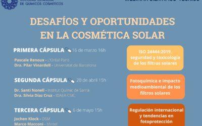 """""""Desafiaments i oportunitats en la cosmètica solar, nou webinar científico-tècnic de la SEQC"""