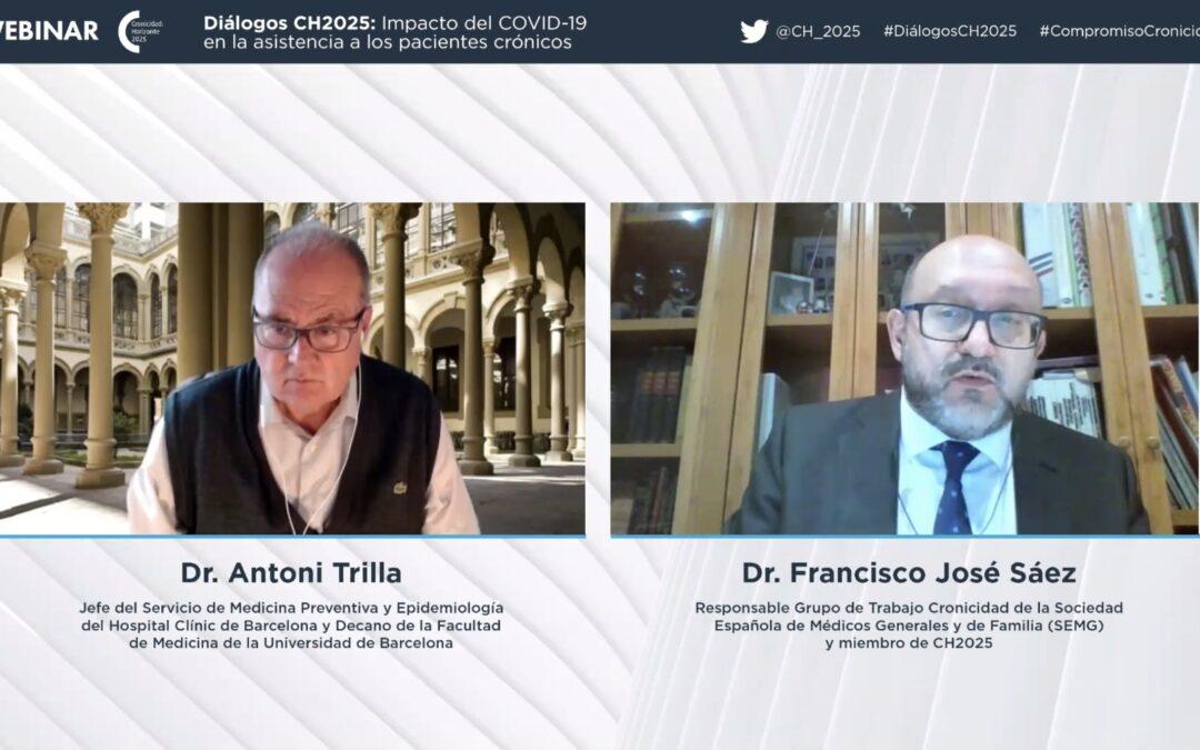 """Dr. Antoni Trilla: """"En aquest any de pandèmia s'ha perdut qualitat i continuïtat en l'assistència al pacient crònic"""""""