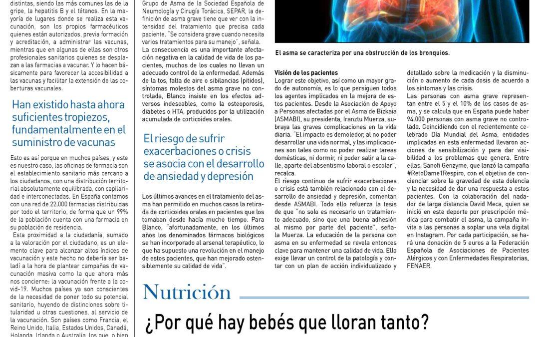 """""""Vacunas en las farmacias"""". Suplement de Medicina. Diari El País"""