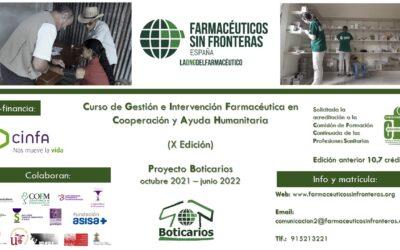 10ª edició del Proyecto Boticarios de Farmacéuticos Sin Fronteras