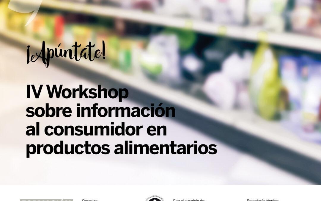 IV Workshop sobre informació al consumidor en productes alimentaris